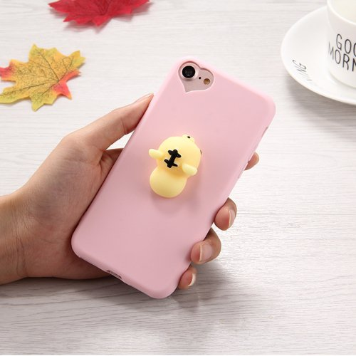 For iPhone 7 3D Tiger Pattern Squeeze Relief Squishy Drop proof Back Cover Case