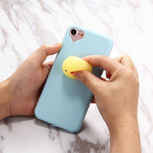 For iPhone 7 Chicken Pattern Squeeze Relief Squishy Drop proof Back Cover Case