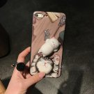 For iPhone 7 3D Cat Pattern IMD Workmanship Squishy Back Cover Case