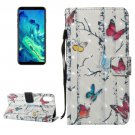 For iPhone 8 Butterflies Pattern Leather Case with Holder & Card Slots & Wallet