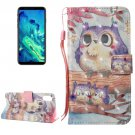 For iPhone 8 Purple Owl Pattern Leather Case with Holder & Card Slots & Wallet