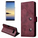 For Galaxy Note 8 Bronze Texture Leather Case with Holder & Card Slots - 3 colors