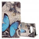 For Galaxy Note 8 Butterfly Pattern Leather Case with Holder, Card Slots & Wallet