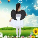 Black Mini Angel Feather Wings Photo Prop Stage Show Halloween Costume