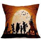 Halloween Decoration Pattern Car Sofa Pillowcase - A - Size:43 x 43 cm