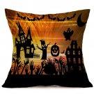 Halloween Decoration Pattern Car Sofa Pillowcase - C - Size:43 x 43 cm