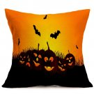 Halloween Decoration Pattern Car Sofa Pillowcase - F - Size:43 x 43 cm