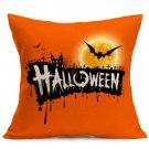Halloween Decoration Pattern Car Sofa Pillowcase - J - Size:43 x 43 cm