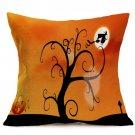 Halloween Decoration Pattern Car Sofa Pillowcase - M - Size:43 x 43 cm