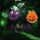 3 PCS / Set Creative Funny Halloween Pumpkin Bats Spider Pendant Paper Decoration and Props Horror