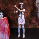 Halloween Cosplay Horror Nurse Costume Masquerade Halloween Party, Size: XL
