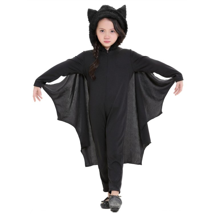 Halloween Costume Children Jumpsuit Bat Style Cosplay Costumes Stage Suit Size:L