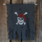 Halloween Decoration Jolly Roger Skull Banner Pirate Flag Party Supplies