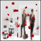 Halloween Festive Atmosphere Horrible Bloody Handprint DIY Wall Static Sticker