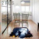 2 PCS Halloween Decoration 3D Horror Wall Sticker Living Room Bedroom Decoration