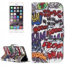 For iPhone 8+&7+ Graffiti Leather Case with Holder, Card Slots & Wallet