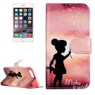 For iPhone 8+&7+ Wishing Girl Leather Case with Holder, Card Slots & Wallet