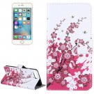 For iPhone 8+&7+ Plum Blossom Leather Case with Holder, Card Slots & Wallet