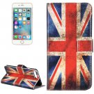 For iPhone 8+&7+ UK Flag Leather Case with Holder, Card Slots & Wallet