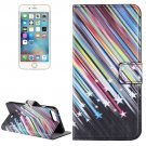 For iPhone 8+&7+ Meteor Shower Leather Case with Holder, Card Slots & Wallet