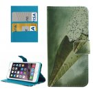 For iPhone 8+&7+ Paper Plane Leather Case with Holder, Card Slots & Wallet