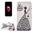 For iPhone 8+ & 7+ Girl Magnetic Leather Case with Holder, Card Slots & Wallet