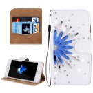 For iPhone 8+ & 7+ Flower Diamond Magnetic Leather Case with Holder, Card Slots