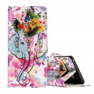 For Galaxy Note 8 Elephant Pattern Leather Case with Holder, Card Slots & Wallet