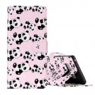 For Galaxy Note 8 Panda Pattern Leather Case with Holder, Card Slots & Wallet