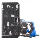 For Galaxy Note 8 8 Cats Pattern Leather Case with Holder, Card Slots & Wallet