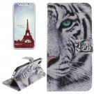 For iPhone X Tiger Pattern Flip Leather Case with Holder, Card Slots & Wallet