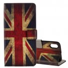 For iPhone X UK Flag Pattern Flip Leather Case with Holder, Card Slots & Wallet