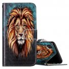 For iPhone X Embossed Lion Flip Leather Case with Holder, Card Slots & Wallet