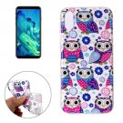 For iPhone X Flower Owls Pattern TPU Protective Case