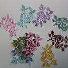12 Glitter Flowering Vines/Die Cuts/Scrapbooking/flowers/Paper Cuts/Embellishments/Cottage Cutz