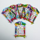 "10 ""Stained Glass Look"" Windows/die cuts/paper cuts/scrapbooking/windows/Embellsihment/Spellbinders"