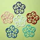 6 Pretty Medallion Flowers/Die Cuts/Embellishments/Paper Cuts/Scrapbooking/Card Making/Spellbinders