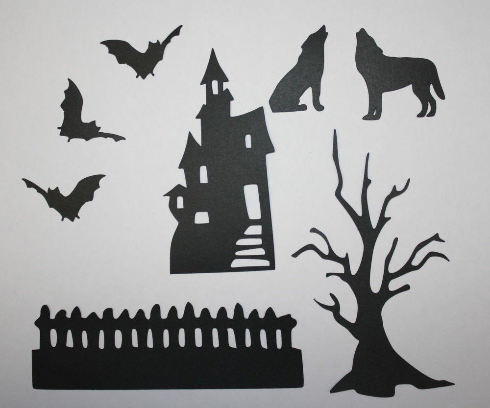 8 Piece's Of Halloween/Die Cuts/Scrapbooking/Card Making/Die Cuts/Holiday/Halloween