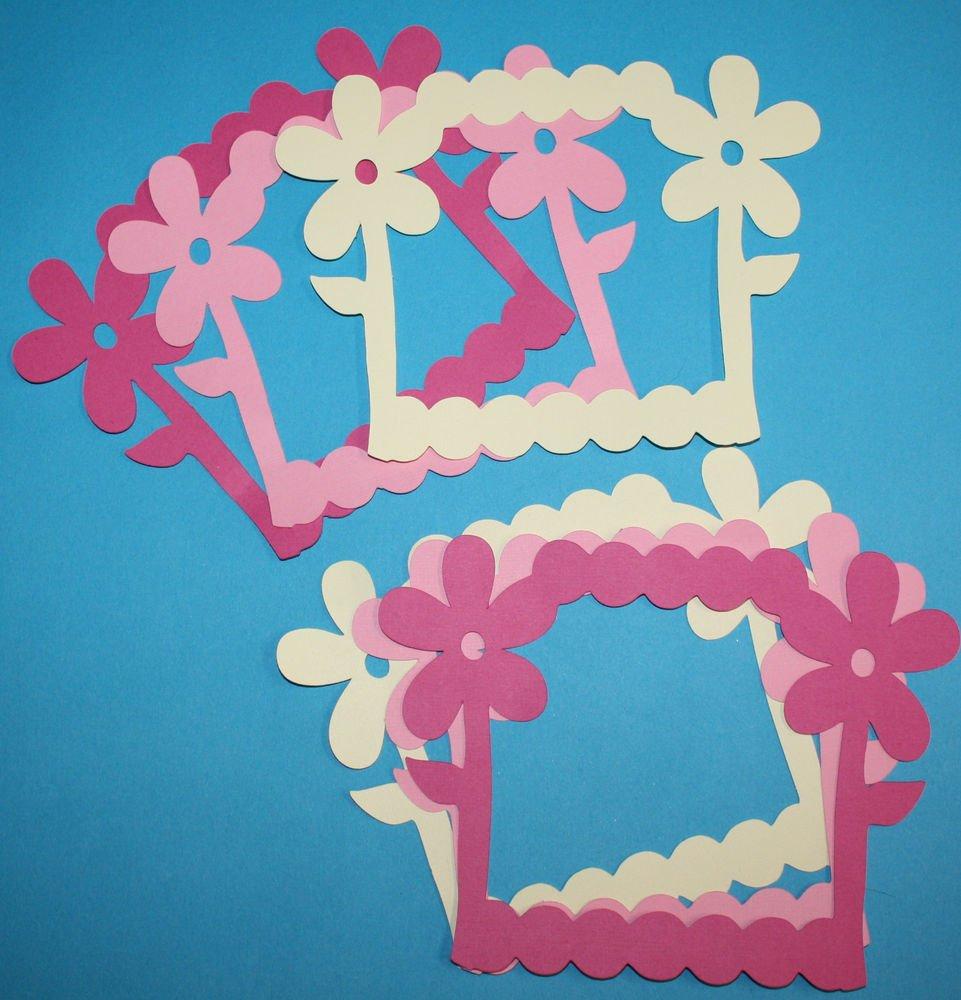 6 Daisy Picture Frames/Scrapbooking/Frames/Die Cuts/Paper Cuts/die cuts/embellishments