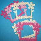 6 Daisy Picture Frames/Scrapbooking/Frames/Die Cuts/Paper Cuts/die cuts/embellishments