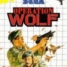 Operation Wolf Sega Master Great Condition Fast Shipping