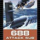 688 Attack Sub Sega Genesis Great Condition Fast Shipping