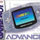 Nintendo Gameboy Advance Glacier Great Condition Fast Shipping