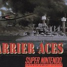 Carrier Aces SNES Great Condition Fast Shipping