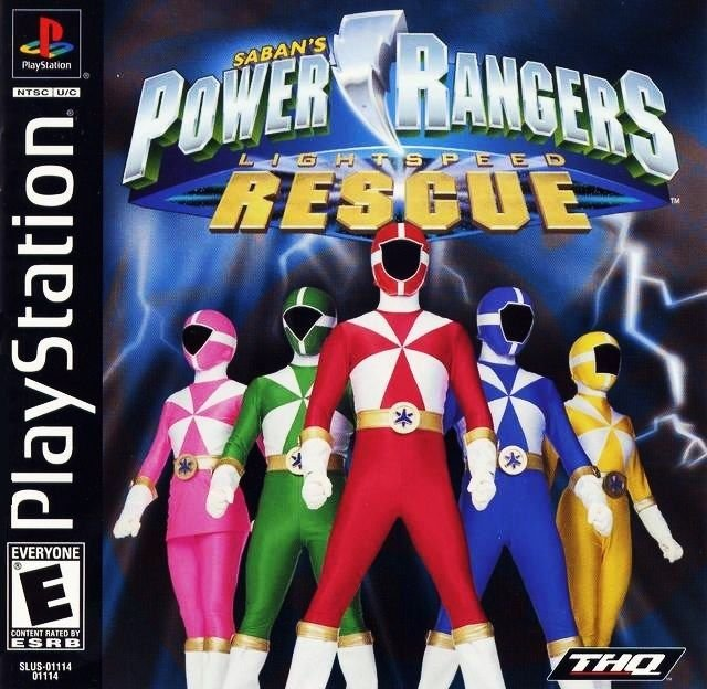 Power Rangers Lightspeed Rescue PS1 Great Condition Complete Fast Shipping