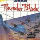 Thunder Blade Sega Master Great Condition Complete Fast Shipping