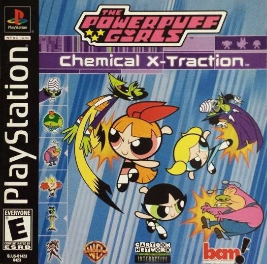 Powerpuff Girls Chemical X Traction PS1 Great Condition Complete Fast Shipping