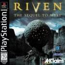 Riven The Sequel To Myst PS1 Great Condition Fast Shipping