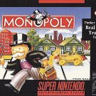 Monopoly SNES Great Condition Fast Shipping