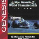Nigel Mansell's World Championship Racing Sega Genesis Great Condition